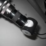 Esempio di webcam astronomica (una Philips SPC900NC modificata) applicata ad un telescopio.