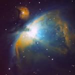Nebulosa di Orione (M42) in banda stretta - 04/01/2015