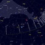 Posizione della cometa C/2014 Q2 (Lovejoy) - mappa realizzata con Skychart 3.10